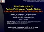 Slideshow - The Economics of Failed, Failing and Fragile States