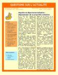 Mayotte et départementalisation : Dépossession de la propriété collective