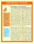 Aide publique au développement :  Vers l'exigence de contreparties officielles